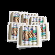 Salchicha de pechuga de pollo:  Bolsa con 6 paquetes de 1lb c/u