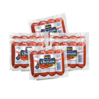 Chorizo Melo.  Bolsa con 6 paquetes de 1lb c/u