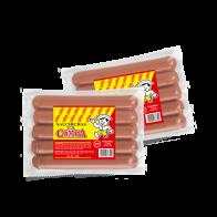 Salchicha El Compa Jumbo. Dos paquetes de 2.5lbs c/u