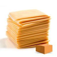 Queso Amarillo Del Real (Caja de 160 rebanadas)